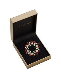 jon-richard-gold-plated-red-christmas-wreath-brooch