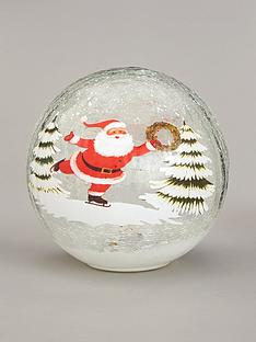 festive-20cm-battery-operated-lit-crackle-ball-santa
