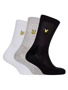 lyle-scott-lyle-scott-hamilton-3-pack-ribbed-sport-socks