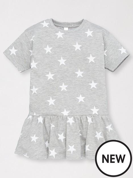 mini-v-by-very-girls-value-star-print-jersey-t-shirt-dress-grey-marl