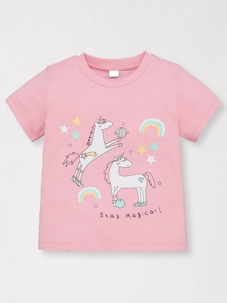 mini-v-by-very-girls-single-value-unicorn-t-shirt-pink