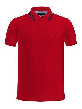 tommy-hilfiger-1985-hilfiger-collar-slim-polo-shirt-rednbsp