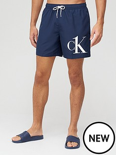 calvin-klein-medium-drawstring-logo-swim-shorts-navy
