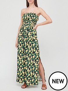 v-by-very-shirred-bandeau-maxi-dress-floral-print