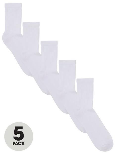 v-by-very-unisex-5-packnbspsports-socks-white