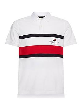tommy-hilfiger-chest-stripe-slim-polo-shirt-whitenbsp