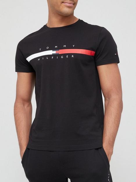 tommy-hilfiger-global-stripe-chest-t-shirt-black