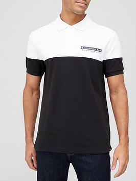 calvin-klein-jeans-micro-mirrored-logo-polo-shirt-blackwhite