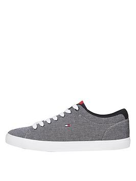 tommy-hilfiger-essential-chambray-vulcanized-trainers-blacknbsp