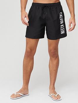 calvin-klein-medium-drawstring-logo-swim-shorts--nbspblack