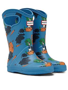 hunter-peter-rabbit-classic-pull-on-wellington-boot-blue