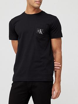 calvin-klein-jeans-monogram-badge-pocket-t-shirt-black