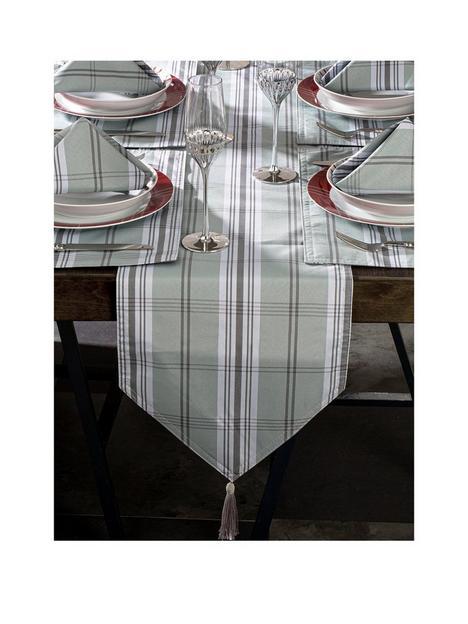 grey-tartan-13-piece-table-linen-set