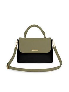katie-loxton-talia-two-tone-cross-body-bag-blackkhaki