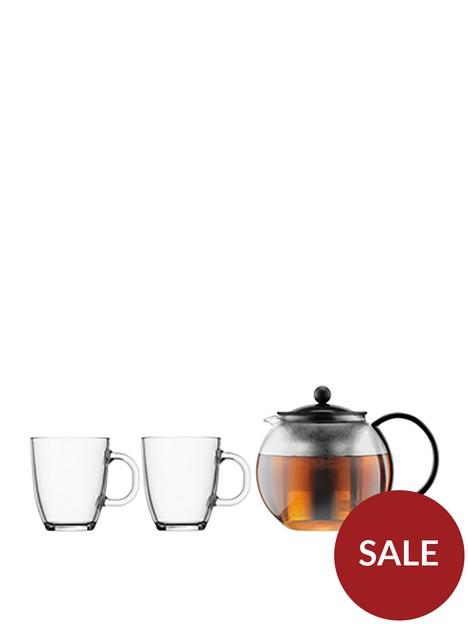 bodum-black-assam-tea-press-and-2-glass-mugs-350ml