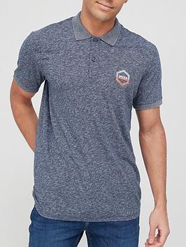 jack-jones-marl-polo-t-shirt-navy