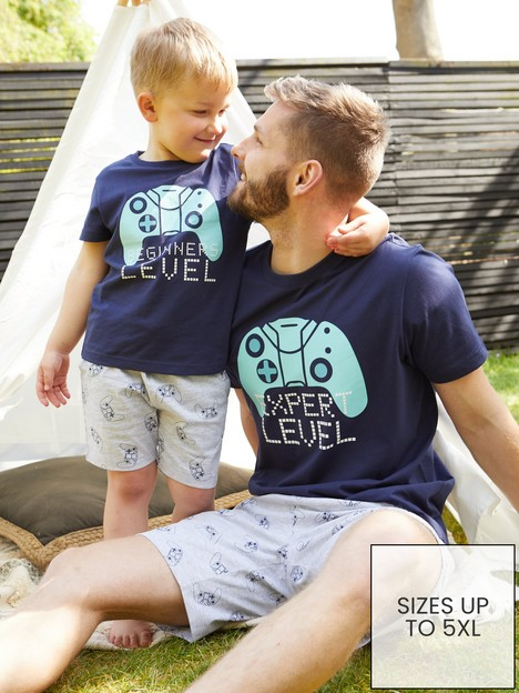 very-man-fathers-day-gaming-expert-level-pj-set-navy