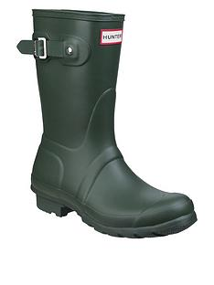 hunter-original-short-welly-boot-green