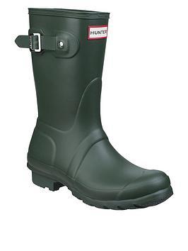 hunter-original-short-welly-boot-green