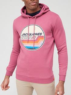 jack-jones-logo-overhead-hoodie-pink
