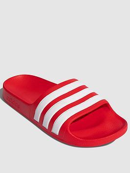 adidas-adilette-aqua-childrens-slider-redwhite