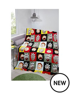 rick-morty-patchwork-fleece-blanket