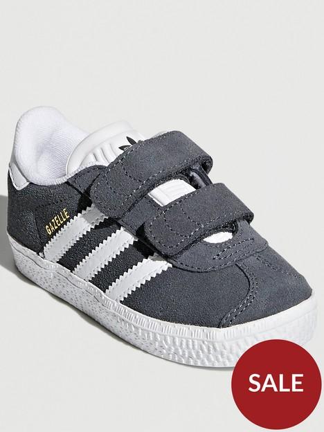 adidas-originals-gazellenbspinfants-grey-white
