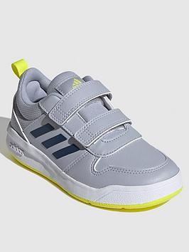 adidas-tensaur-childrens-trainer-silver