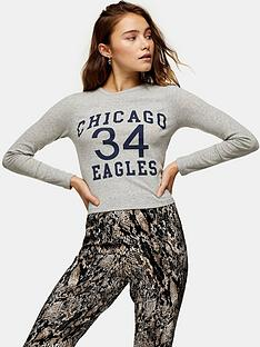 topshop-chicago-eagles-long-sleeve-top-grey