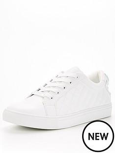 kurt-geiger-london-ludo-drench-trainer-white