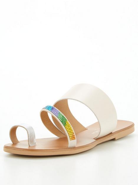 kurt-geiger-london-dawn-rainbow-flat-sandal-stone