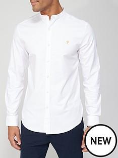 farah-farah-grandad-oxford-shirt-white