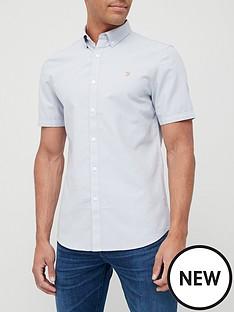 farah-brewer-short-sleeve-shirt-blue