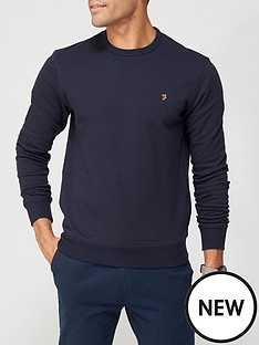farah-tim-sweatshirt-navy-marl