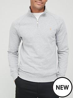 farah-jim-14-zip-sweatshirt-light-grey-marlnbsp