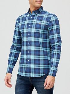 farah-brewer-check-shirt-bluegreen