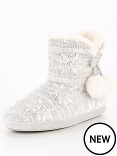 v-by-very-amber-snowflake-knit-slipper-boot-grey