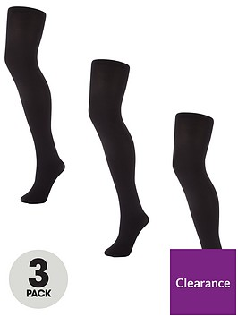 v-by-very-valuenbsp3-packnbsp100-deniernbspopaque-tights-black