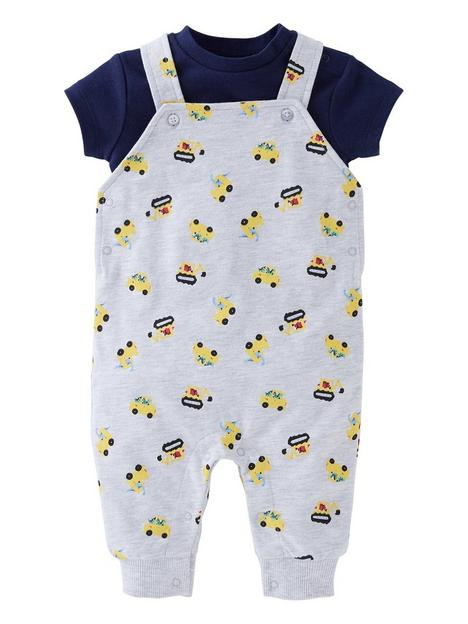 mini-v-by-very-baby-boys-2-piecenbspdigger-dungarees-and-short-sleevenbspbodysuit-set-multi
