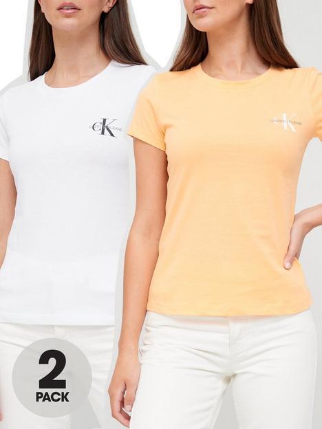 calvin-klein-jeans-100-organic-cotton-slim-fit-t-shirt-2-pack-orangewhite