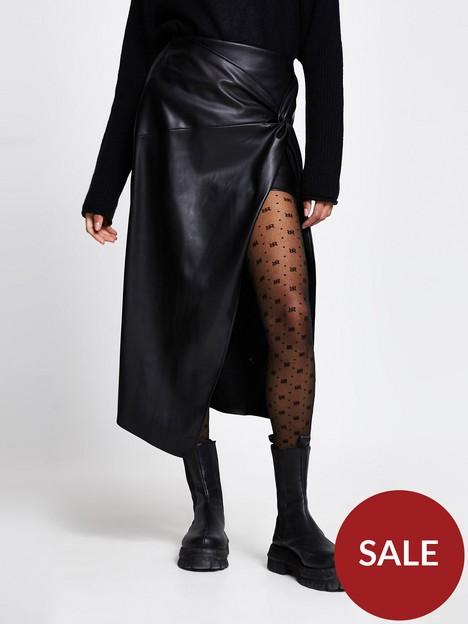 river-island-twist-wrap-punbspmidi-skirt-black