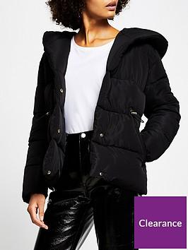 river-island-shawl-collar-paddednbspjacket-black