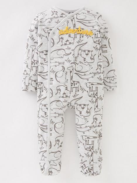 mini-v-by-very-baby-unisex-jungle-adventure-sleepsuit-multi