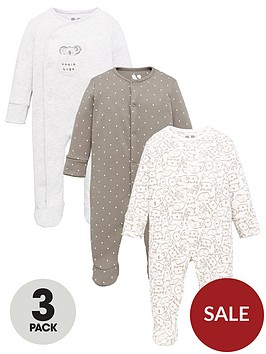 mini-v-by-very-unisex-3-pack-koala-sleepsuits-multi