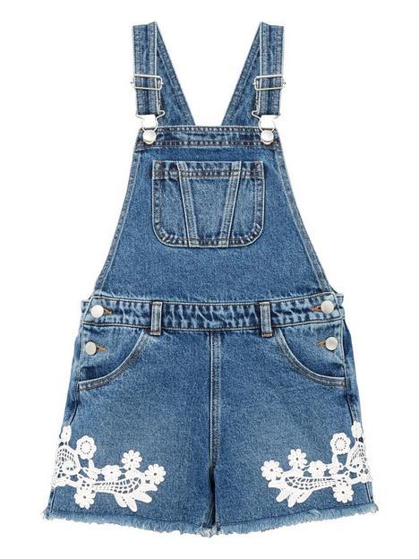 v-by-very-girls-crochet-trim-denim-dungaree-blue