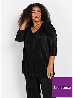 evans-pleated-top-black