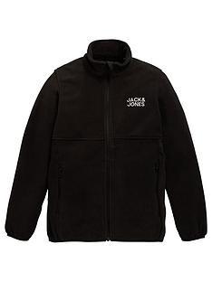 jack-jones-junior-boys-zip-through-fleece-top-black