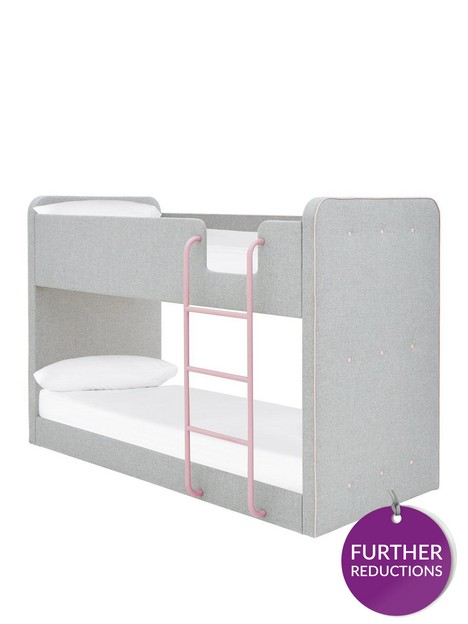 new-charlie-fabricnbspbunk-bed-with-mattress-options-buy-and-save-greypink
