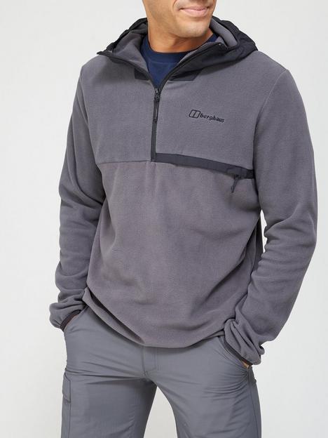 berghaus-aslam-hooded-half-zip-top-greyblack