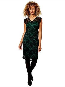 joe-browns-flattering-lace-dress-blackgreen